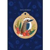Kookaburra Wooden Decoration Greeting Card