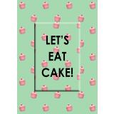 Let's Eat Cake! Magnet Greeting Card
