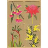 Removable Magnets card - Australian Flowers