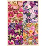 Removable Magnets Card - Pink & Purple Florals