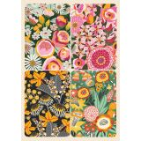 Removable Magnets Card - Bright Florals