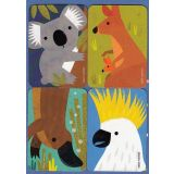 Removable Magnets Card - Aussie Animals