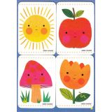 Removable Magnets Card - Garden