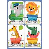 Removable Magnets Card - Animal Train