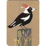 Magpie Christmas Magnet