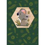 Koala Wood Magnet