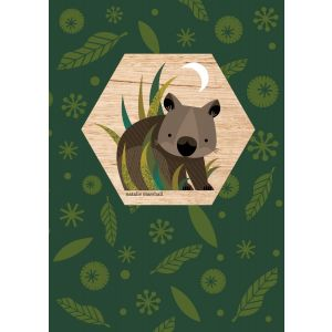 Wombat Wood Magnet
