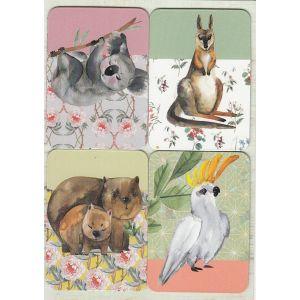 Removable Magnets Card - Australian Fauna